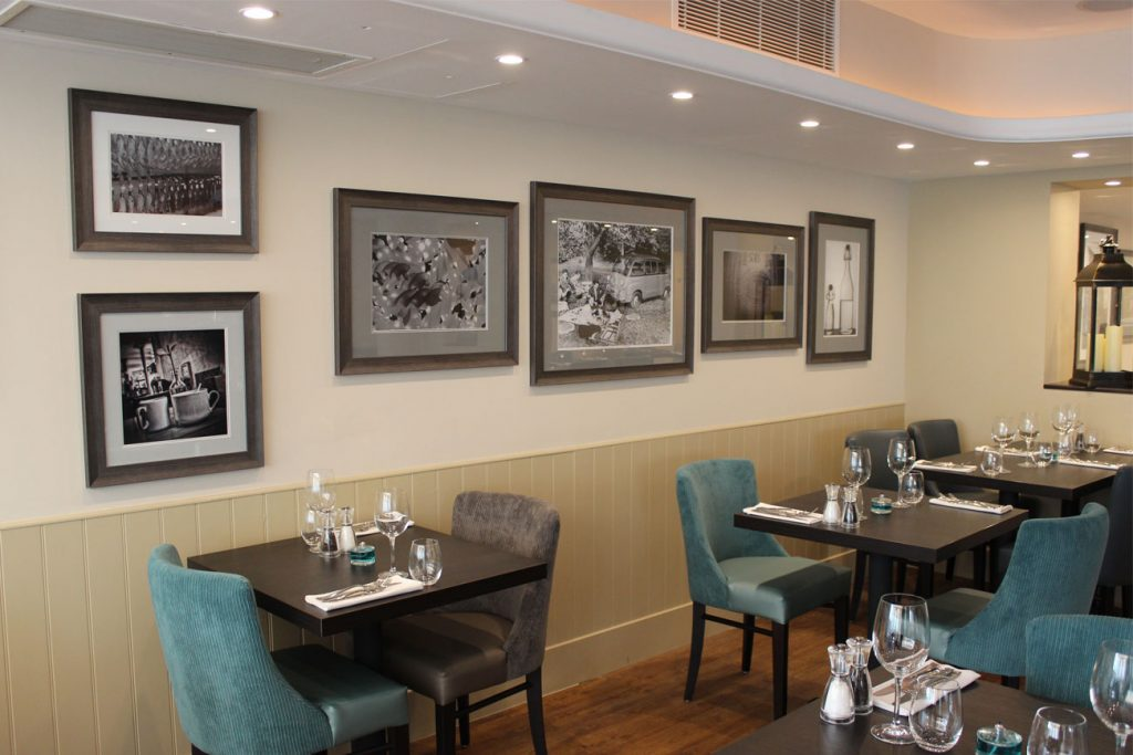 Photo wall in Olio restaurant